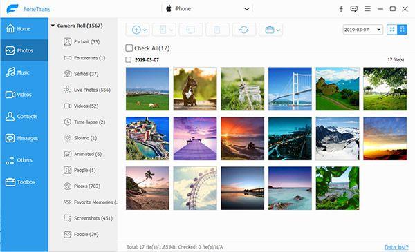 Manage iPhone Photos