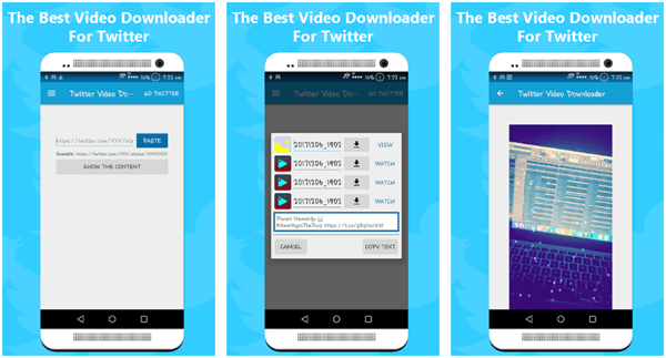 Twitter Video Downloader Android