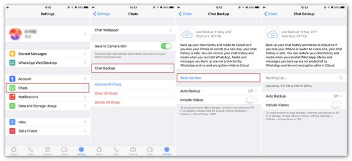 Backup WhatsApp Chats to iCloud