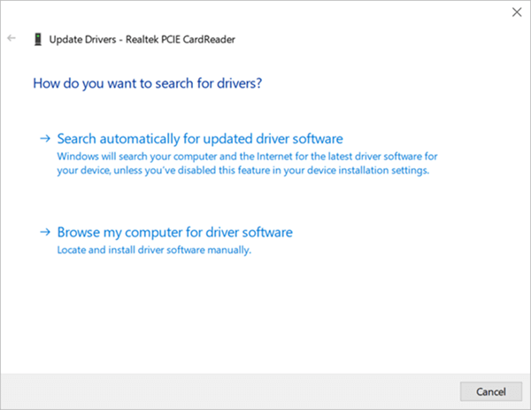 update card reader driver