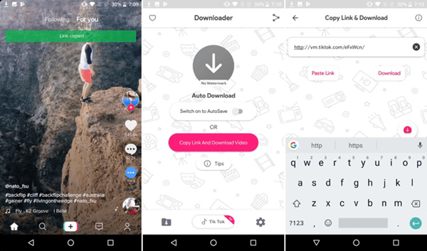 download tiktok videos android