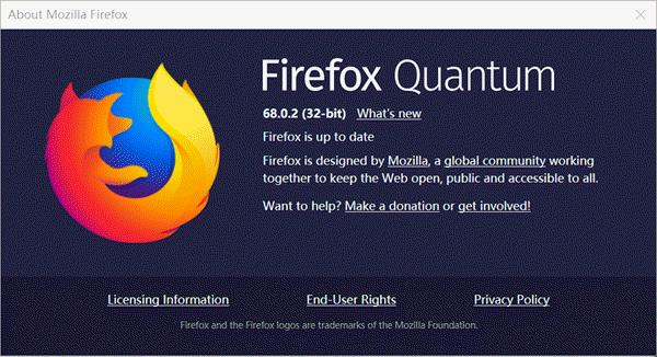 update mozilla firefox