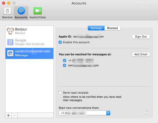 check imessage settings mac