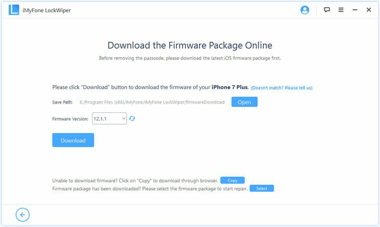 faça o download do firmware para desbloquear