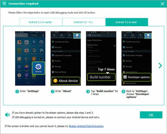 enable usb debugging android