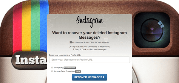 recover deleted instagram messages online