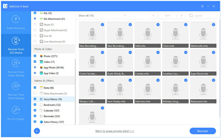 recover voice memos from iphone