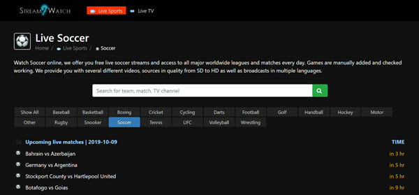 best football streaming site