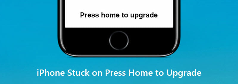 iphone stuck on press home to upgrade