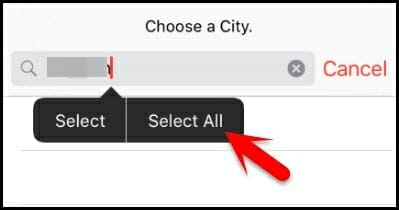 select all city