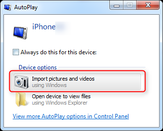 windows 7 autoplay