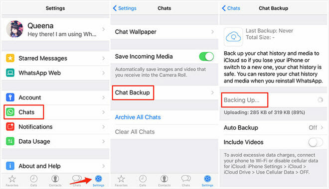 Backup WhatsApp Chats
