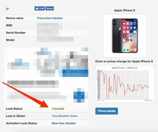 check iphone lock status