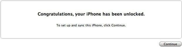 iphone unlocked itunes