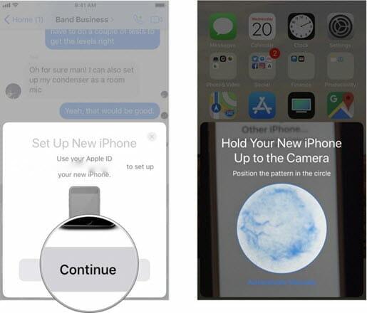 quick start iphone