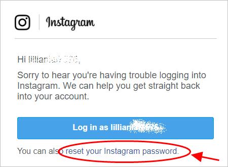 redefinir a senha do instagram com e-mail